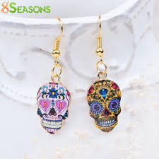 8SEASONS New Fashion Chic Earrings Gold Color Multicolor ...