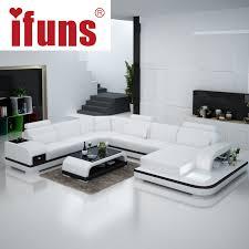 ifuns orange and white customized color italian leather sofa u shaped luxury sofa sectional sets living room furniture fr buy italian furniture online