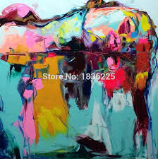 100% <b>Handmade Oil Painting Pop</b> Art Nielly Francoise Lady Face ...