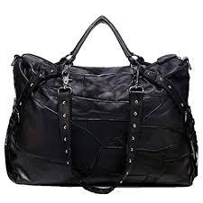 Puyang <b>Women's</b> Rivet Shoulder Bag <b>Genuine Leather Sheepskin</b> ...