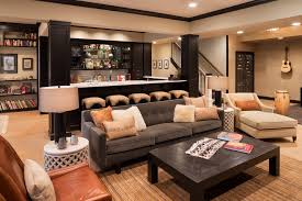 bar front design ideas basement transitional with chaise lounge home bar bar seating built home bar cabinets tv
