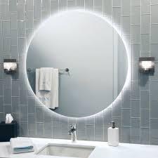 waterproof k dimmable warm white led soft strip lighting encircles round led bathroom mirror basic bathroom strip