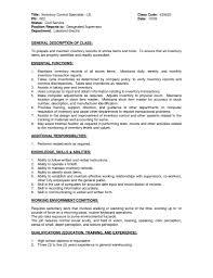 inventory specialist resume inventory specialist resume