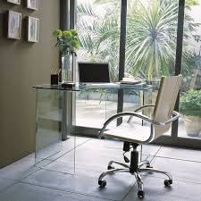 impressive modern corner computer desk from glass showing transparency and saving more space antique white home office furniture simple