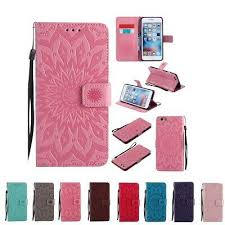 Card Holder <b>Sunflower Leather Wallet</b> TPU Case Cover For iPhone ...