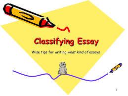 classification essay writing