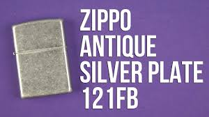 Распаковка <b>Zippo Antique Silver</b> Plate 121FB - YouTube