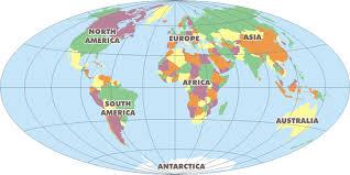 Αποτέλεσμα εικόνας για world map continents