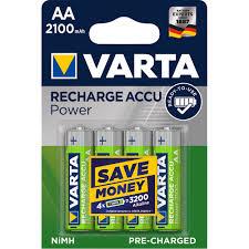 Аккумулятор <b>VARTA АА</b> пальчиковый LR6 1,2 В 2100 мАч (4 шт ...