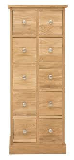 baumhaus mobel oak dvd cd storage chest of drawers baumhaus mobel oak drawer