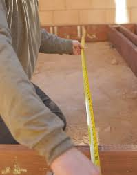 patio steps pea size x: measuring for interior posts for a deck
