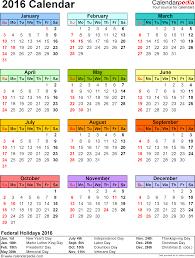 2016 calendar federal holidays excel pdf word templates 2016 calendar federal holidays excel pdf word templates