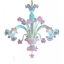 Lampadario Murano Rosa : Giudecca lampadario di murano luci opalino rosa