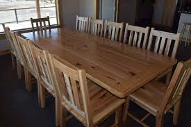 Hickory Dining Room Table Rustic Hickory Dining Table And Chairs