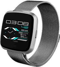 <b>Умные часы NO.1 G12</b> серебро, ремешок сталь (NO.1G12SS ...