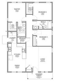 Small house plans  Small houses and House plans on PinterestFloor Plan for a Small House   sf   Bedrooms and Baths