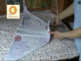 Как сложить тканевой или марлевый подгузник - YouTube