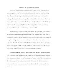 narrative descriptive essay writing description essay example