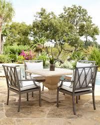 pebble ceramic green patio table