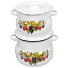 <b>Набор эмалированной посуды</b> СтальЭмаль Ягодный чай 10 ...