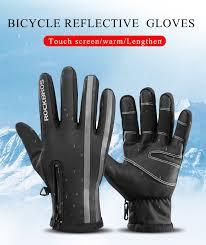 ROCKBROS зимние мужские лыжные <b>перчатки</b> с <b>сенсорным</b> ...