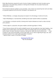 future science essays from the cutting edge pdf