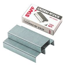 <b>Скобы для степлера Staff</b> №24/6, 1000 шт купить в Санкт ...