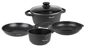 Купить <b>Набор</b> посуды <b>Rondell</b> The One <b>RDA</b>-<b>563</b> 6 пр. серый по ...