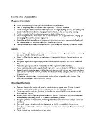 bizfed   job opening  scv chamber president   ceo   bizfed    president ceo job description final page