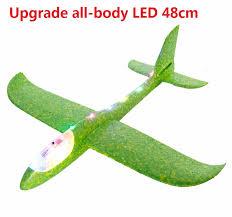 Big <b>Good quality 48cm</b> LED Hand Launch Throwing Airplane Glider ...