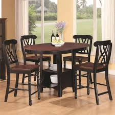 dining room pub style sets: classy french country bistro design with  pieces two tone pub style counter height dining set