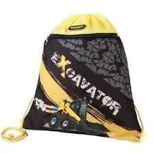 """<b>Мешок для обуви</b> 370*300 <b>Target</b> мал """"Экскаватор"""", чёрный/жёлтый"""