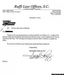 Ruffi Law Offices Allegedly Cancels Job Opening Because Of Obama's ... sarah ruffi law rejection letter obama