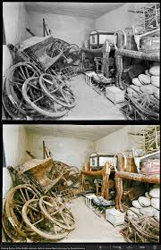 images show king tutankhamun s tomb in colour for the first time the antechamber numerous chariots are stacked up against the wall in this image the discovery