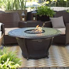 red ember by agio charleston 48 in round fire pit table with free cover agio patio furniture covers