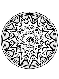 Small Picture Love Shapes Mandala Coloring Pages Batch Coloring