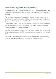 essay on friend