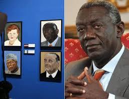 Den ehemaligen Präsidenten Ghanas, John Agyekum Kufuor, hat George W. Bush aus einem Zeitungsartikel auf «TodayGH.com» porträtiert. - 95294-tnd6AK672dT_qX0X6_mYCw