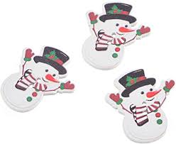 Souarts White Christmas Snowman Shape 2 Holes ... - Amazon.com