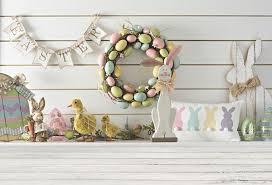 2019 <b>Laeacco Easter</b> Eggs Chick Wooden Board Floor Scene Baby ...