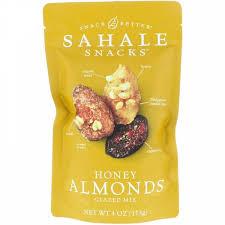 Sahale Snacks, <b>Глазированная смесь</b>, <b>миндаль в</b> меде, 113 г