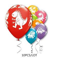 "<b>10PCS Cartoon</b> 12"" <b>Dinosaur</b> Printed Animal <b>Latex</b> Balloons Baby ..."