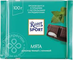 Купить <b>Шоколад Ritter Sport</b> Темный Мята 100г с доставкой на ...