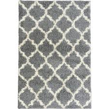 ultimate shaggy contemporary moroccan trellis design grey 7 ft 10 in x 9 ft black white rug home