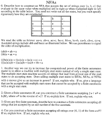 theoretical foundations of computer science assignment nfa handout