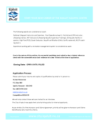 head lifeguardinstructor city of iqaluit page cover letter cover letter head lifeguardinstructor city of iqaluit pagehead lifeguard