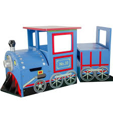 Little Captain Train Writing Desk And <b>Storage Bench Set</b> - Teamson ...