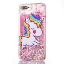Cute <b>Cartoon Glitter</b> Rainbow Unicorn Liquid Case <b>Christmas Tree</b> ...