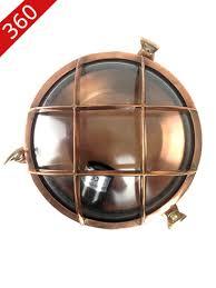 Nautical Bulkhead Light - Revivals Round <b>Copper</b>