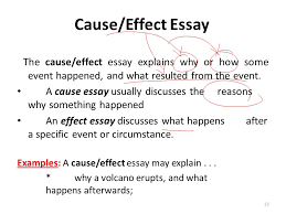 essay writing lecture  recap what is a paragraph paragraph  the causeeffect essay explains why or how some event happened and what resulted